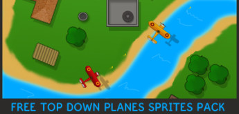 Free Game Art/Assets for Games #12 – Top Down Planes Sprites Pack