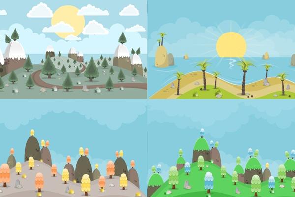 Download-2D-Backgrounds-Set