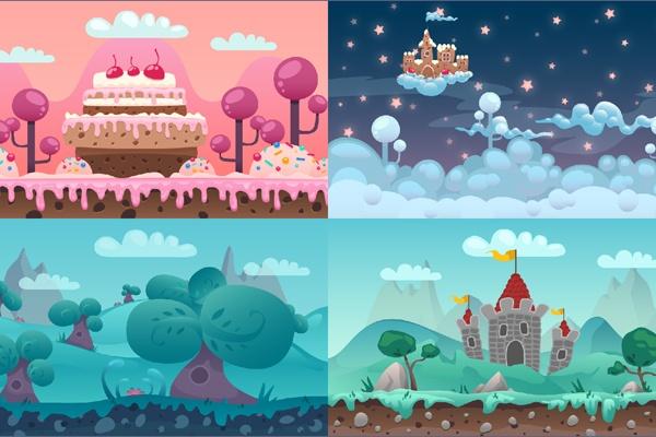 Download-Free-Cartoon-Parallax-2D-Backgrounds