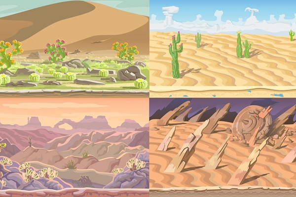 Download-Free-Desert-Scrolling-2D-Game-Backgrounds